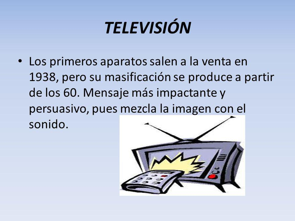 TELEVISIÓN Los primeros aparatos salen a la venta en 1938, pero su masificación se produce a partir de los 60.