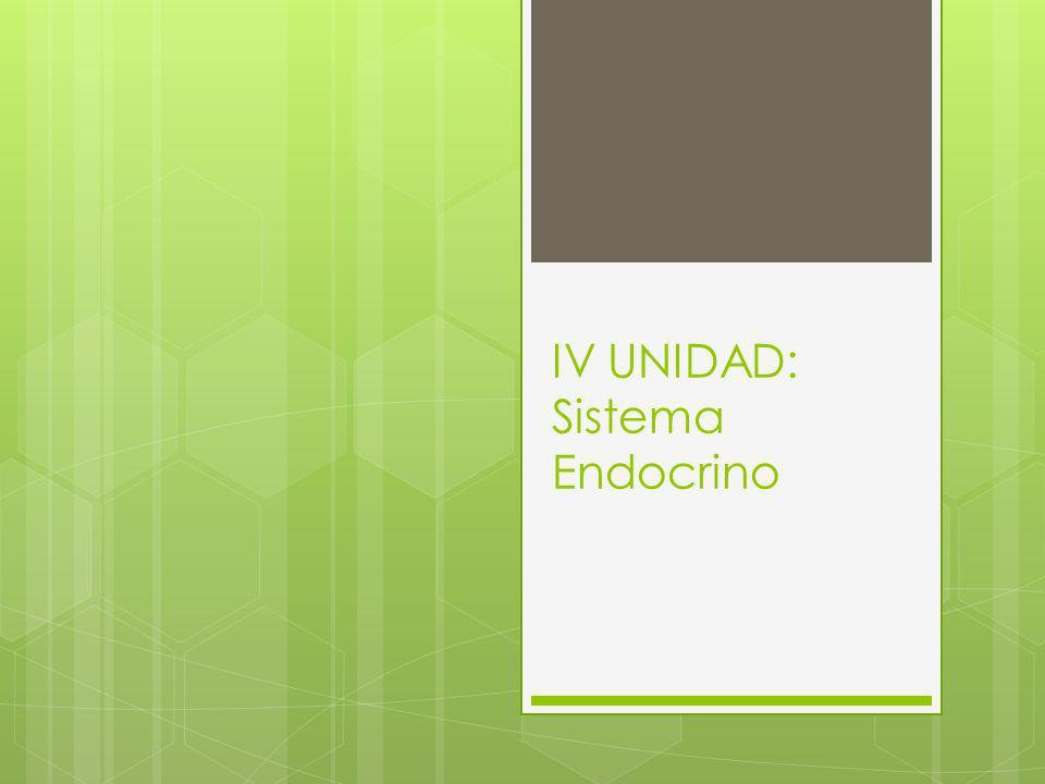 Objetivo de la Unidad.Comprender el funcionamiento del Sistema Endocrino.