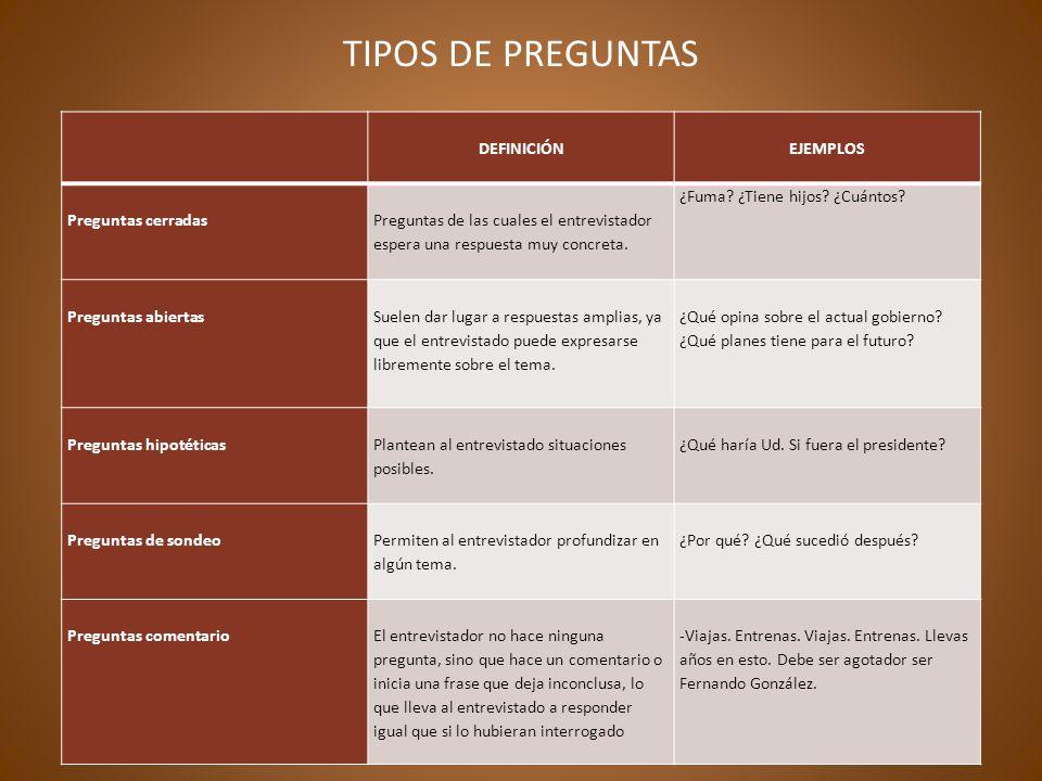 ETAPAS DE LA ENTREVISTA DE PRENSA PREPARACIÓN: etapa donde se definen los objetivos y se delimitan tanto los aspectos prácticos como los de contenido de la entrevista.