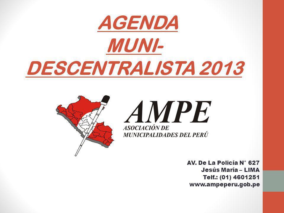 AGENDA MUNI- DESCENTRALISTA 2013 AV.