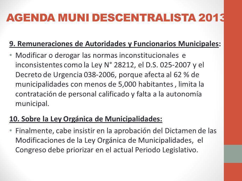 AGENDA MUNI DESCENTRALISTA 2013 9.