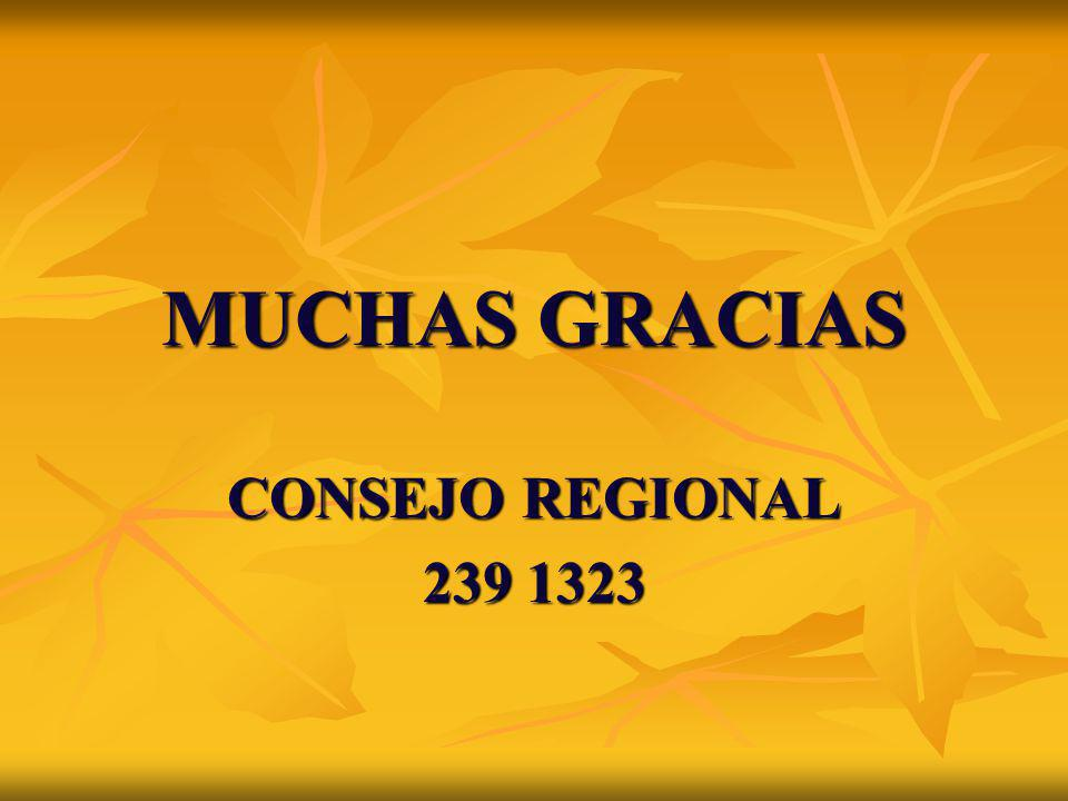 MUCHAS GRACIAS CONSEJO REGIONAL 239 1323