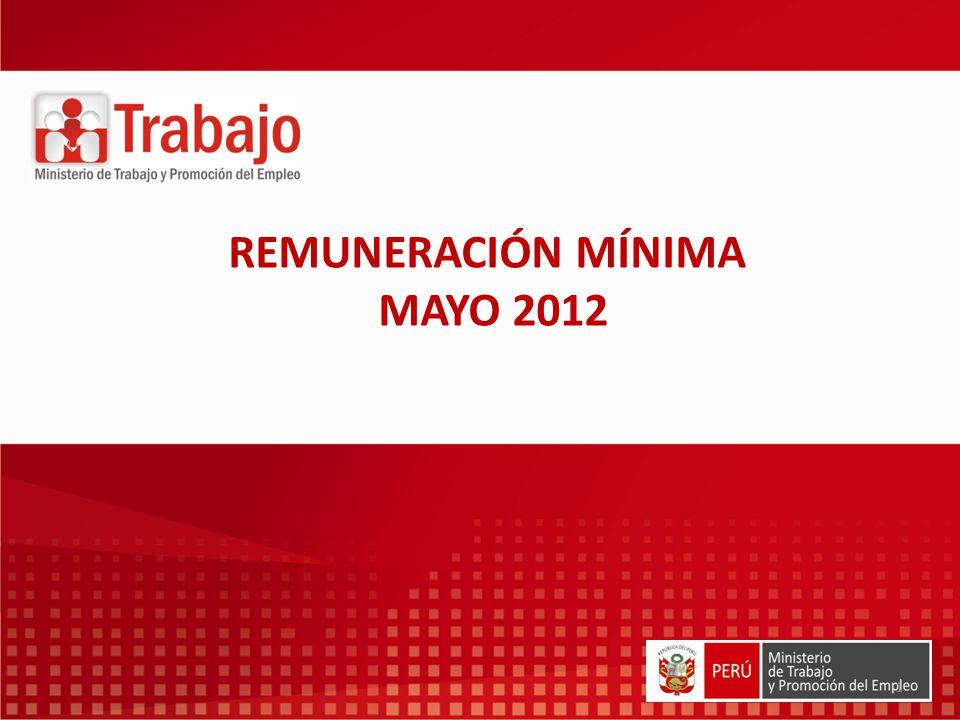 1 REMUNERACIÓN MÍNIMA MAYO 2012