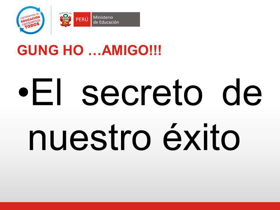 GUNG HO …AMIGO!!! El secreto de nuestro éxito