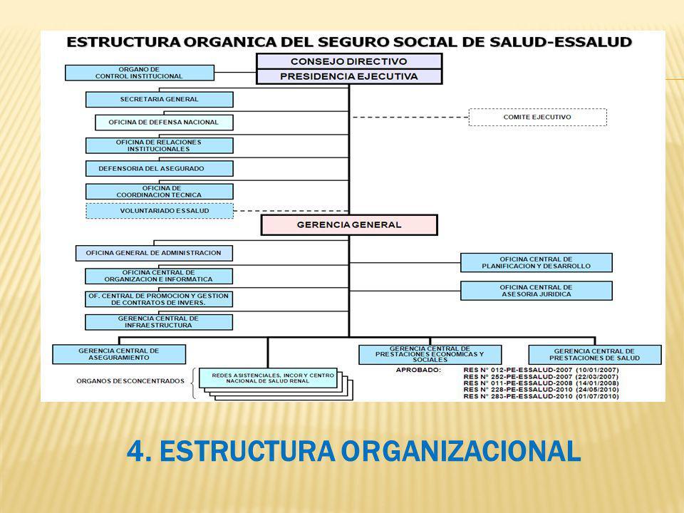 4. ESTRUCTURA ORGANIZACIONAL