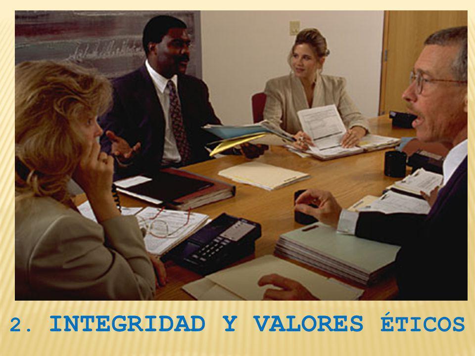2. INTEGRIDAD Y VALORES ÉTICOS