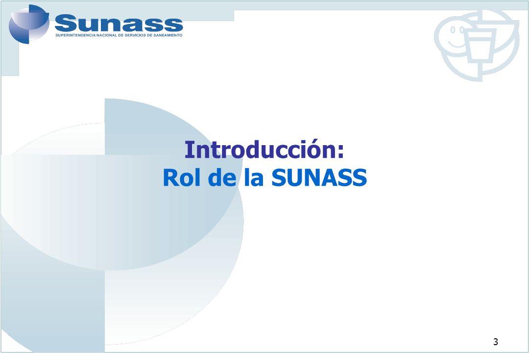 4 LA SUNASS La Superintendencia Nacional de Servicios de Saneamiento (SUNASS) es el organismo regulador de los servicios de saneamiento en el Perú.