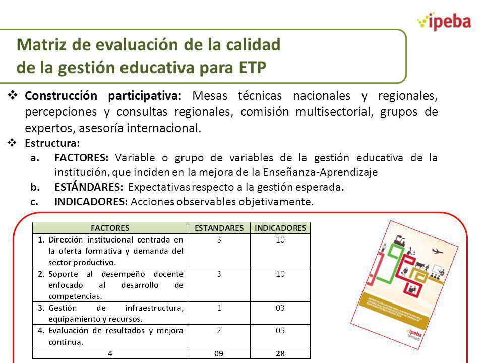 Construcción participativa: Mesas técnicas nacionales y regionales, percepciones y consultas regionales, comisión multisectorial, grupos de expertos,