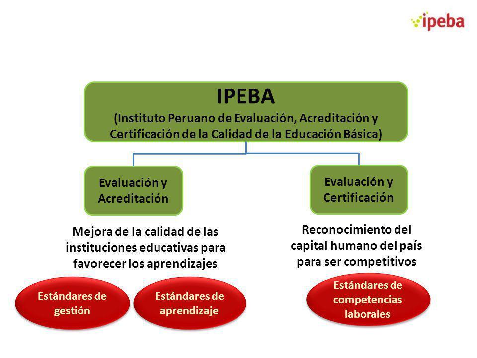 IPEBA (Instituto Peruano de Evaluación, Acreditación y Certificación de la Calidad de la Educación Básica) Evaluación y Acreditación Evaluación y Cert