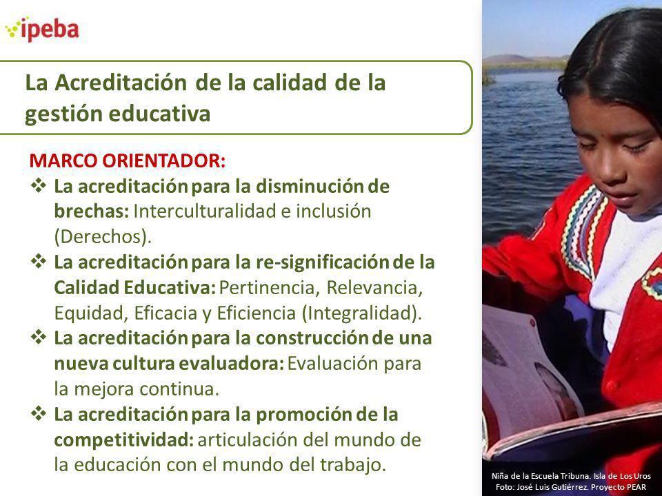 MARCO ORIENTADOR: La acreditación para la disminución de brechas: Interculturalidad e inclusión (Derechos). La acreditación para la re-significación d