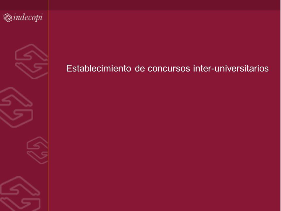 Establecimiento de concursos inter-universitarios