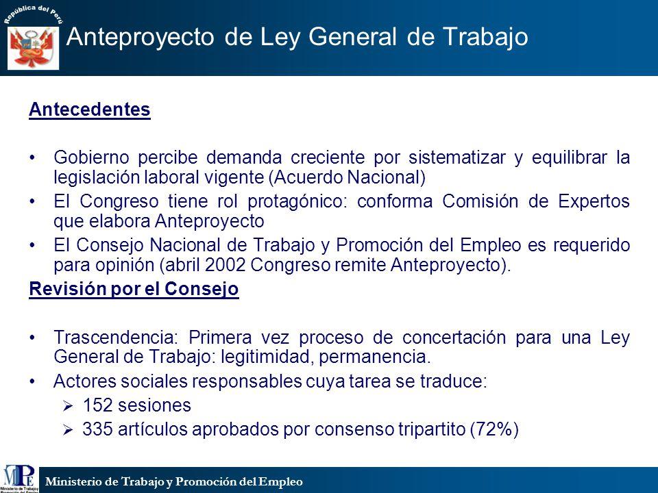 Ministerio de Trabajo y Promoción del Empleo Trabajadores del Hogar