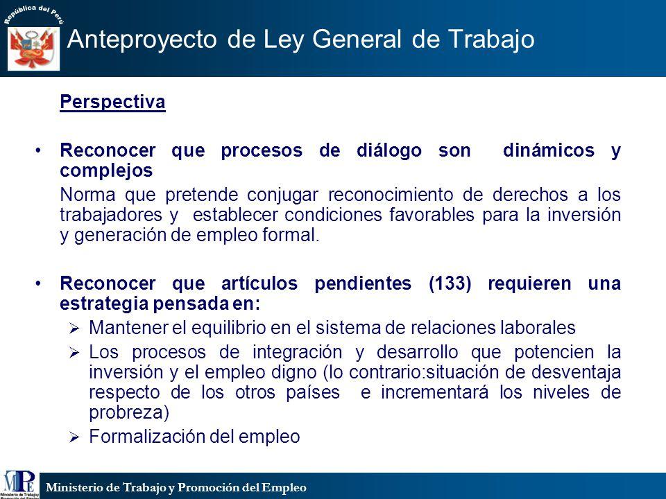 Ministerio de Trabajo y Promoción del Empleo Erradicación del trabajo infantil