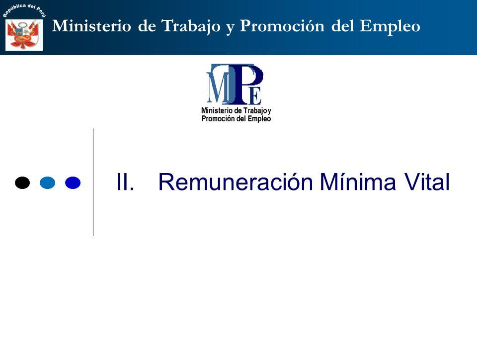 Ministerio de Trabajo y Promoción del Empleo Constitución Política: las remuneraciones mínimas se regulan por el Estado con participación de las organizaciones representantes de los trabajadores y de los empleadores.