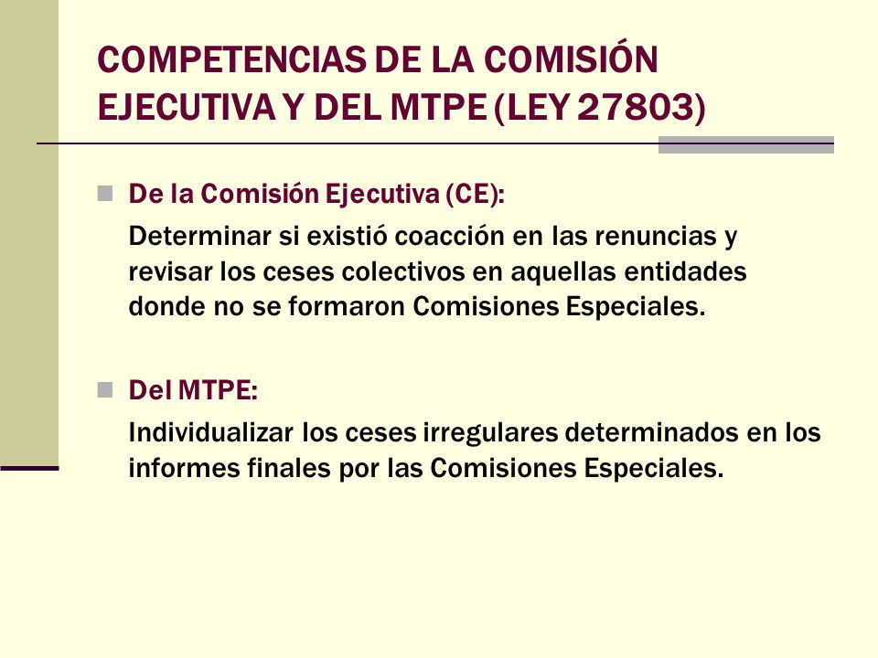 TERCER LISTADO DE EX TRABAJADORES CESADOS IRREGULARMENTE Mediante R.S.