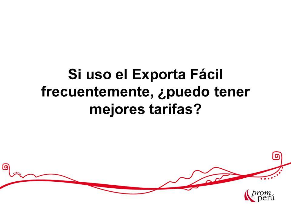 Si uso el Exporta Fácil frecuentemente, ¿puedo tener mejores tarifas?