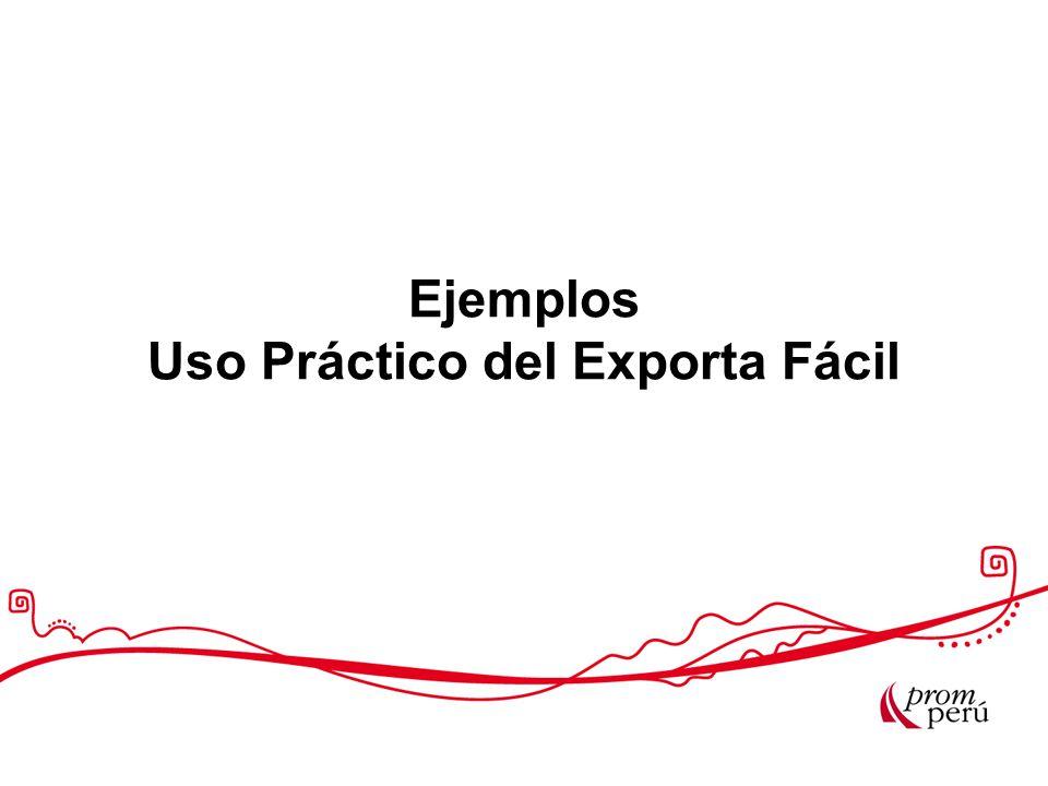 Ejemplos Uso Práctico del Exporta Fácil