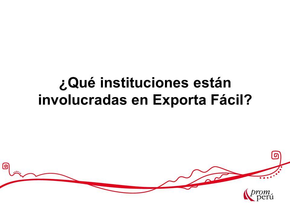 ¿Qué instituciones están involucradas en Exporta Fácil?