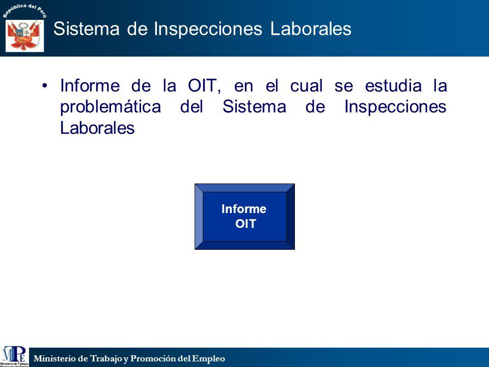 Ministerio de Trabajo y Promoción del Empleo Sistema de Inspecciones Laborales Informe de la OIT, en el cual se estudia la problemática del Sistema de