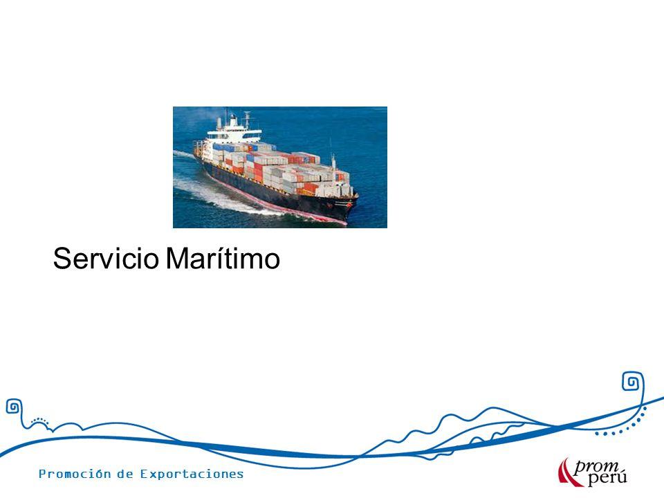 Promoción de Exportaciones Servicio Marítimo