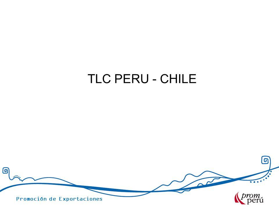 Promoción de Exportaciones TLC PERU - CHILE
