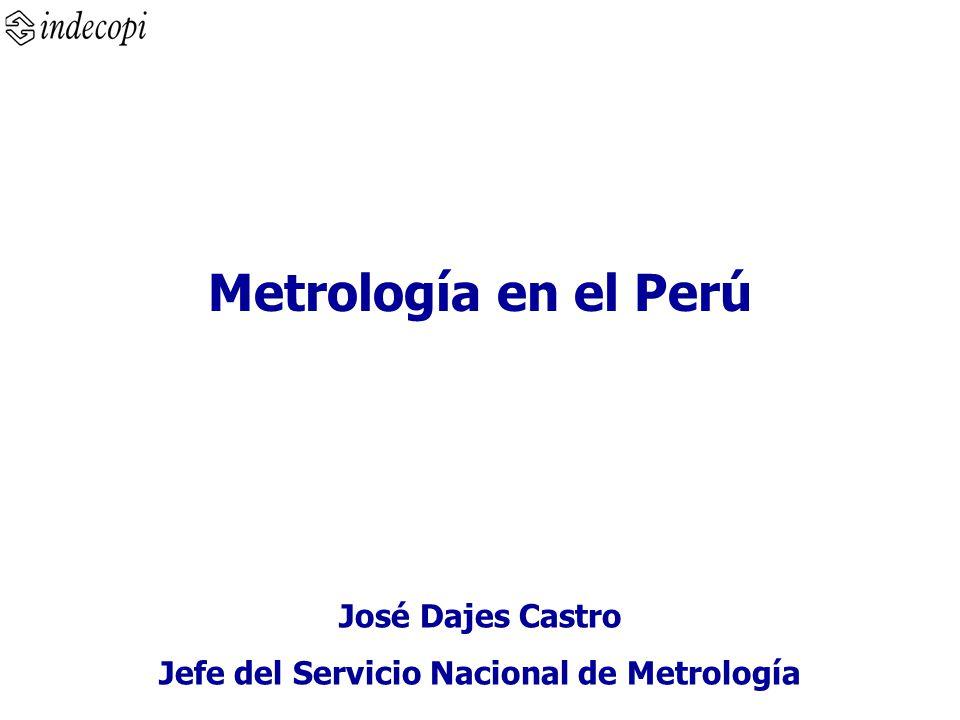 Metrología en el Perú José Dajes Castro Jefe del Servicio Nacional de Metrología