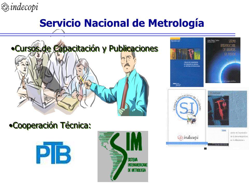 Servicio Nacional de Metrología Cooperación Técnica: Cursos de Capacitación y Publicaciones