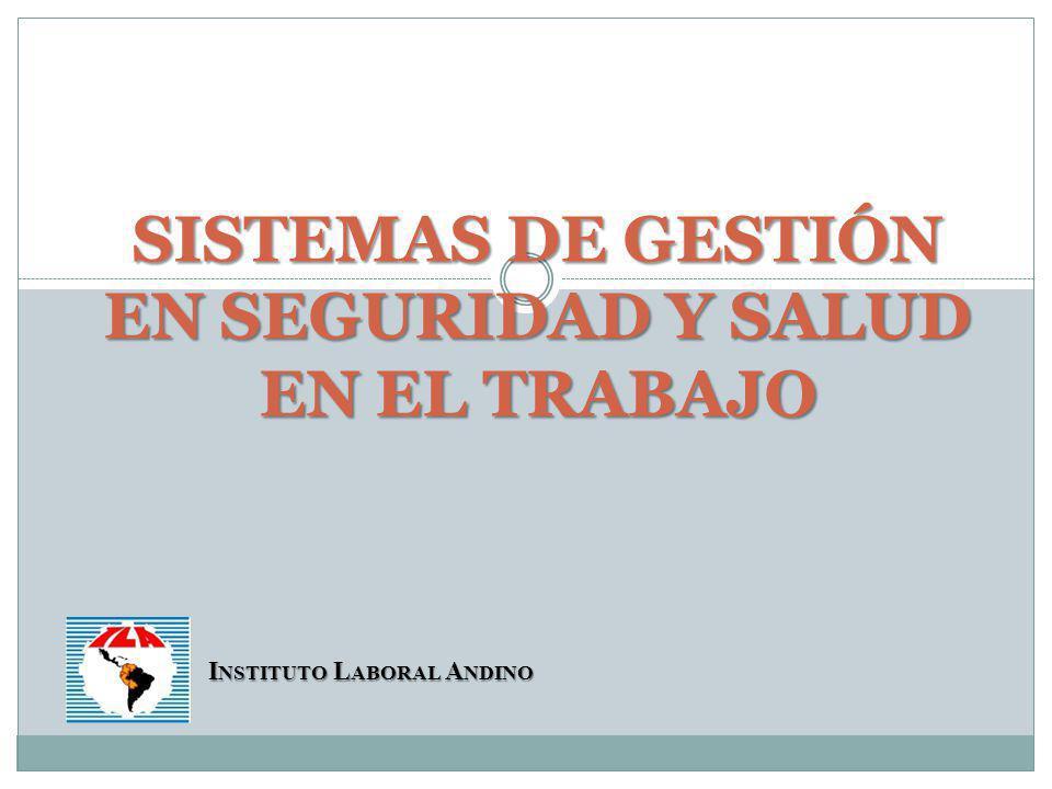 CRITERIOS DE GESTIÓN EN SEGURIDAD Y SALUD EN EL TRABAJO
