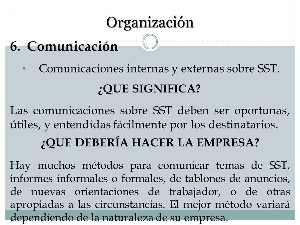 5. Documentación del SG SST Los documentos esenciales referentes a actividades de SST se deben recoger, mantener, y archivar en una manera organizada