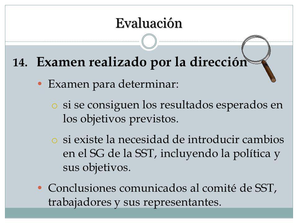13. Auditoría Una auditoría es una revisión y una evaluación sistemáticas de todos procedimientos y/o documentos de SST (o de algunos previamente sele