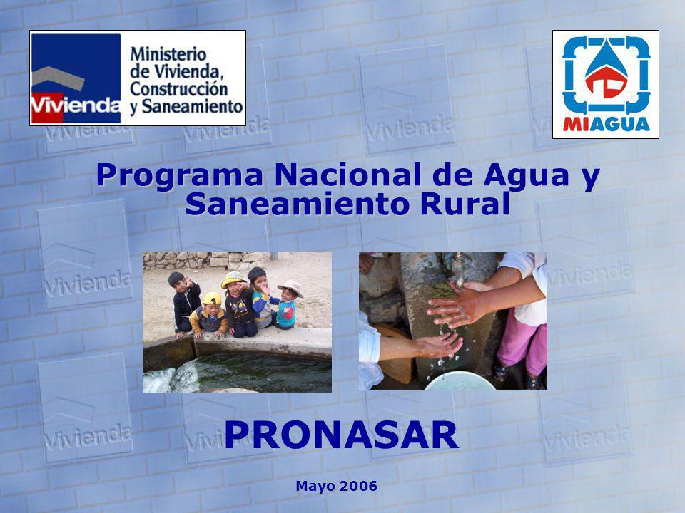 PRONASAR Mayo 2006 Programa Nacional de Agua y Saneamiento Rural
