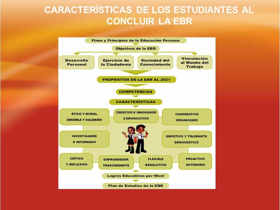 CARACTERÍSTICAS DE LOS ESTUDIANTES AL CONCLUIR LA EBR