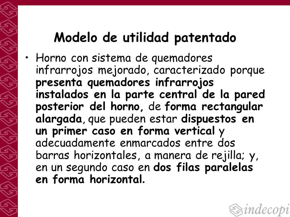 Modelo de utilidad patentado Horno con sistema de quemadores infrarrojos mejorado, caracterizado porque presenta quemadores infrarrojos instalados en
