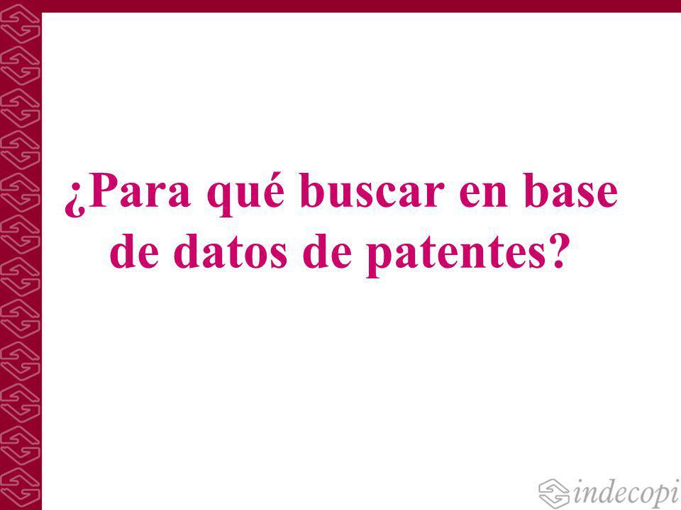 ¿Para qué buscar en base de datos de patentes?