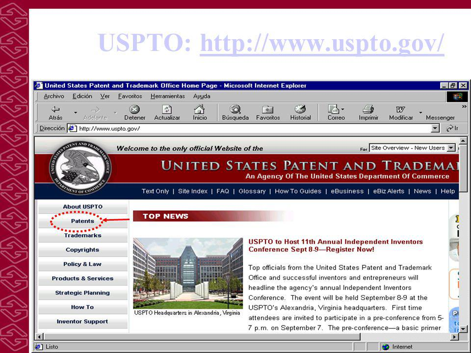 USPTO: http://www.uspto.gov/http://www.uspto.gov/