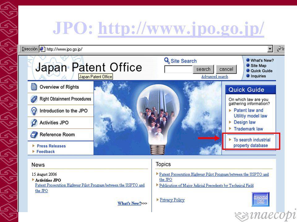 JPO: http://www.jpo.go.jp/http://www.jpo.go.jp/