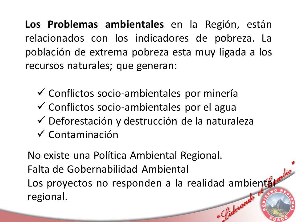 Liderando el Cambio Liderando el Cambio Los Problemas ambientales en la Región, están relacionados con los indicadores de pobreza. La población de ext