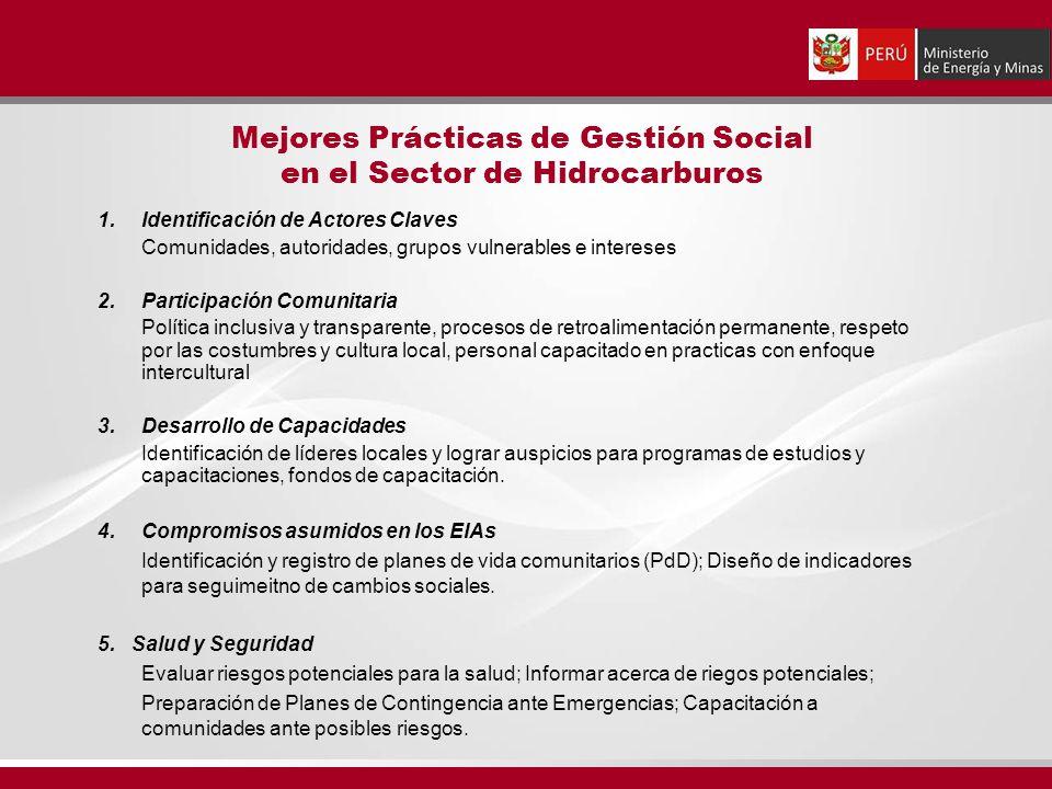 1.Identificación de Actores Claves Comunidades, autoridades, grupos vulnerables e intereses 2. Participación Comunitaria Política inclusiva y transpar