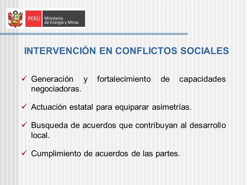 Generación y fortalecimiento de capacidades negociadoras.