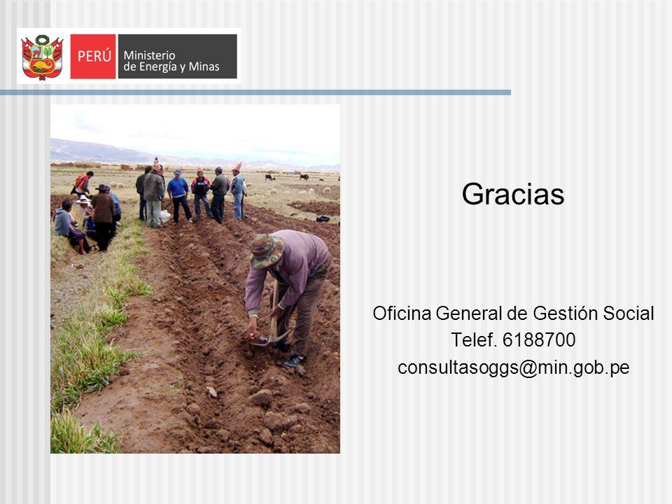Gracias Oficina General de Gestión Social Telef. 6188700 consultasoggs@min.gob.pe