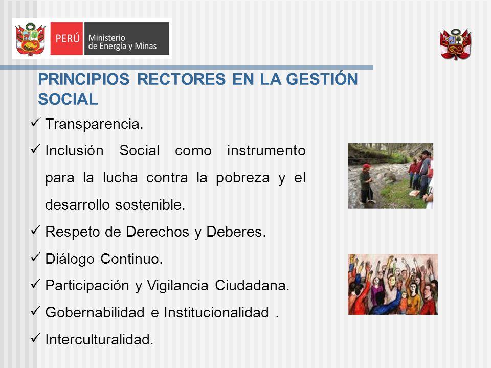 PRINCIPIOS RECTORES EN LA GESTIÓN SOCIAL Transparencia.