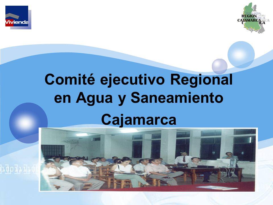 Comité ejecutivo Regional en Agua y Saneamiento Cajamarca