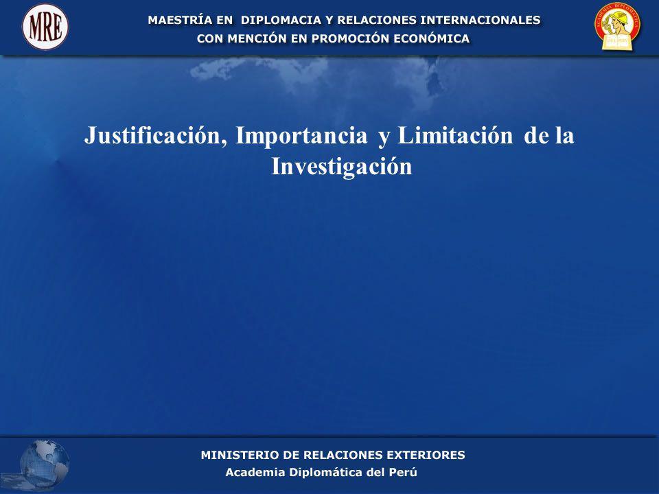 Justificación, Importancia y Limitación de la Investigación