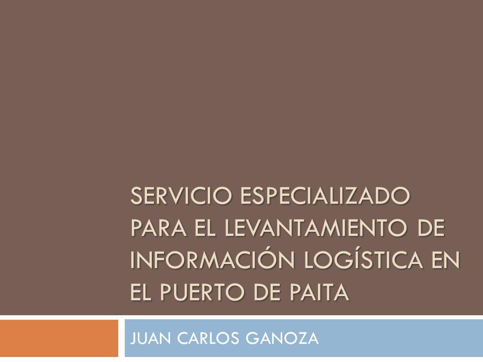 SERVICIO ESPECIALIZADO PARA EL LEVANTAMIENTO DE INFORMACIÓN LOGÍSTICA EN EL PUERTO DE PAITA JUAN CARLOS GANOZA