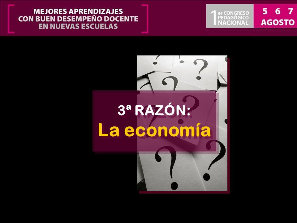 3ª RAZÓN: La economía