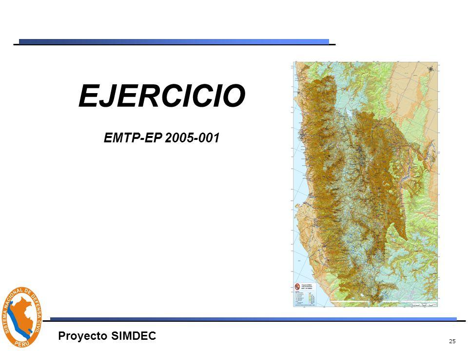 25 EJERCICIO EMTP-EP 2005-001 Proyecto SIMDEC