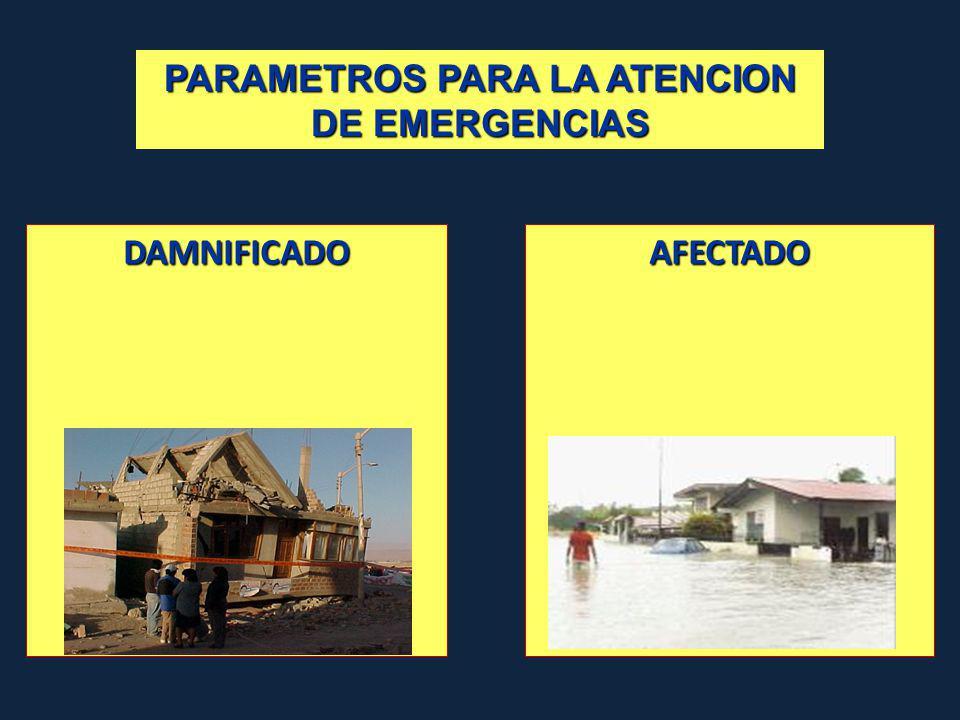 PARAMETROS PARA LA ATENCION DE EMERGENCIAS DAMNIFICADOAFECTADO