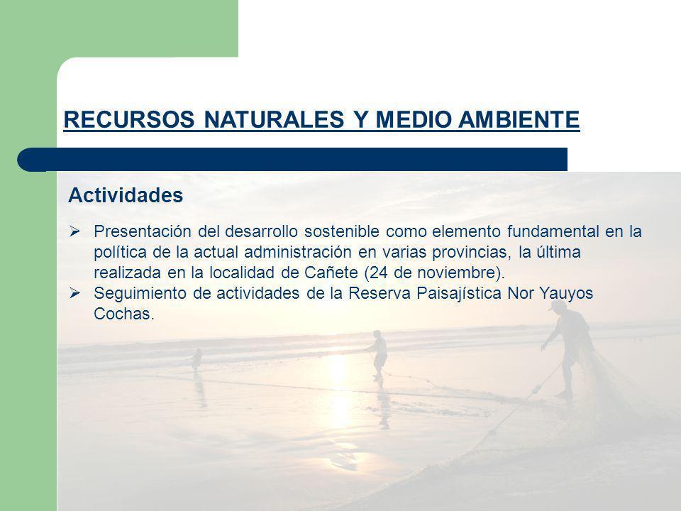 Presentación del desarrollo sostenible como elemento fundamental en la política de la actual administración en varias provincias, la última realizada