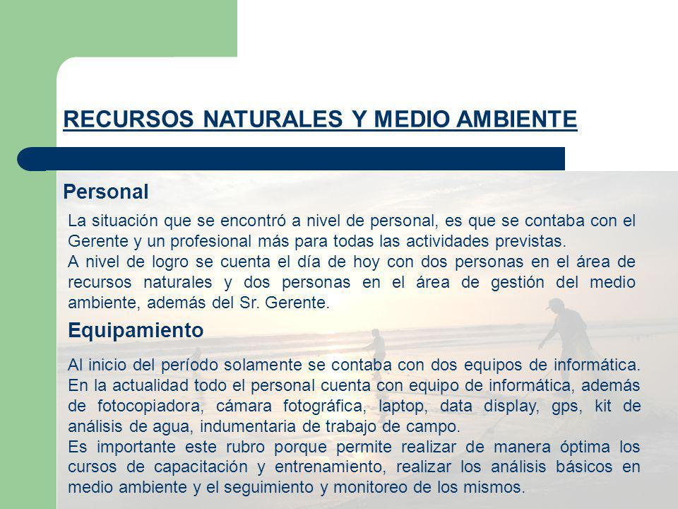 Gestión RECURSOS NATURALES Y MEDIO AMBIENTE Como instrumentos de gestión se cuenta con plan estratégico de la gerencia.