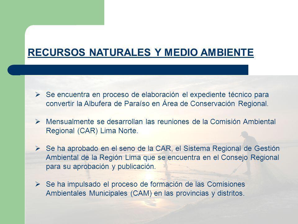 Se encuentra en proceso de elaboración el expediente técnico para convertir la Albufera de Paraíso en Área de Conservación Regional. Mensualmente se d